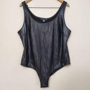 Fashion to Figure Vegan Leather Bodysuit, sz 2